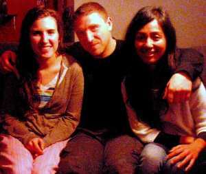 CS guests Kayleen (from the U.S., enroute to India), Daniel from Serbia + Suz from Eagle Rock, CA.