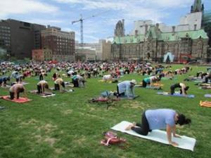 Down Dog anyone? Head for Yoga on Parliament Hill, noon on Wednesdays in Ottawa.