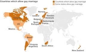 Gay marriage is legal in 12 countries around the world. Photo Credit: BBC.co.uk