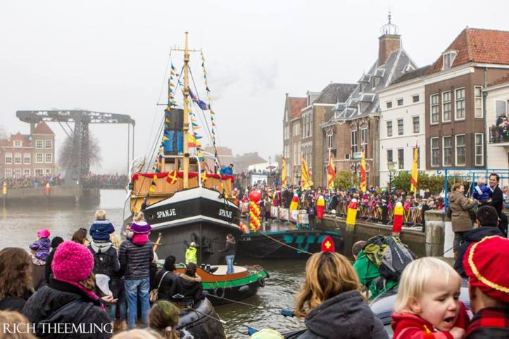 With pomp + circumstance, Sinterklaas arrived at Central Station from Spain by steamboat.