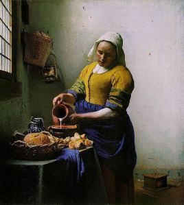 The Milkmaid (Johannes Vermeer, circa 1658); art that looks good enough to eat.
