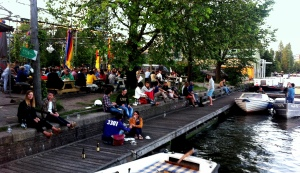 Pull up a boat and chill at Hanneke's Boom.