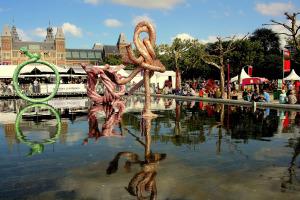 Sculptures on Museumplein during Uitmarkt.