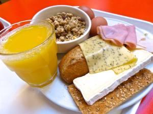 Breakfast at StayOK Hostel.