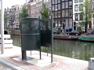 Men can use these public urinals instead of peeing in the canals. Photo credit: www.bearandbowwow.com